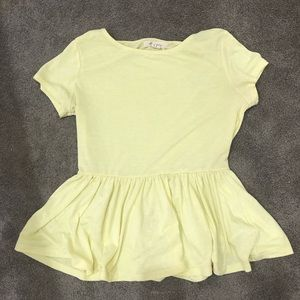 Light yellow peplum shirt